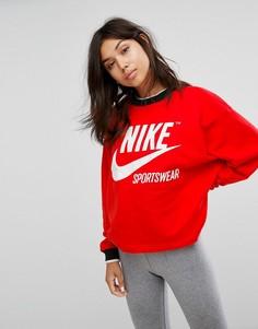 Красный свитшот Nike Archive - Красный