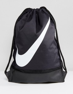 Черная сумка на шнурке с галочкой Nike BA5424-010 - Черный