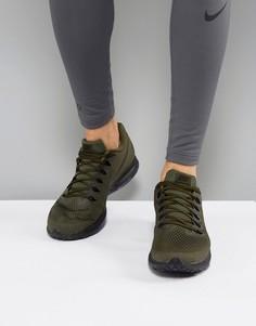 Кроссовки цвета хаки Nike Running Zoom All Out 878670-302 - Зеленый
