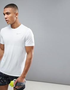 Белая футболка Nike Running Zonal Relay 833580-100 - Белый