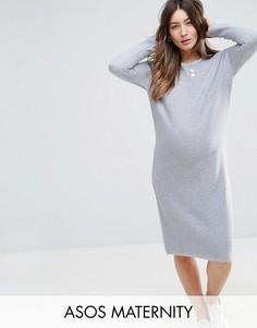 Фактурное платье-джемпер ASOS Maternity - Серый