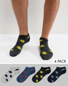 4 пары низких носков в горошек Jack & Jones - Мульти