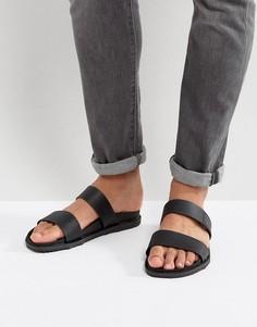 Черные сандалии с двумя ремешками Call It Spring Ricoberht - Черный