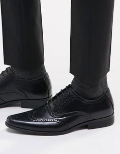 Черные туфли-броги ASOS - Черный