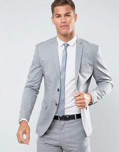 Облегающий эластичный пиджак Selected Homme - Серый