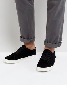 Черные кроссовки из натуральной замши на шнуровке ASOS - Черный
