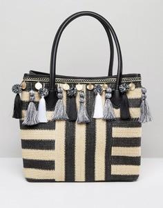 Соломенная сумка с кисточками ALDO - Мульти