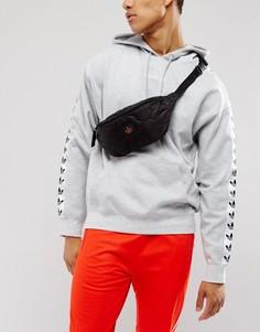 Черная стеганая сумка-кошелек на пояс ASOS - Черный