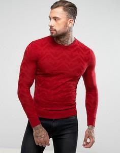 Красный джемпер с логотипом Armani Jeans - Красный