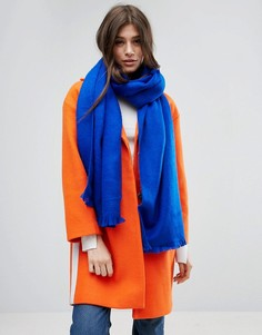 Ярко-синий длинный мягкий шарф ASOS - Синий
