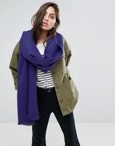 Фиолетовый длинный шарф из супермягкой ткани ASOS - Фиолетовый