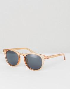 Оранжевые круглые солнцезащитные очки ASOS - Оранжевый