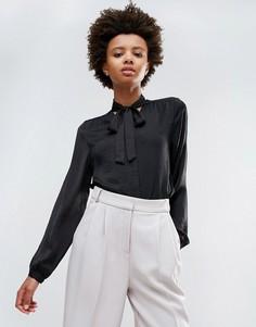 Блузка с бантом Ichi - Черный