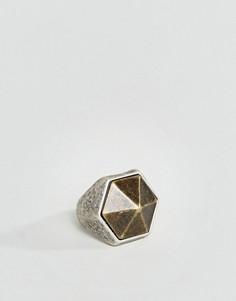 Кольцо с печаткой ASOS - Серебряный