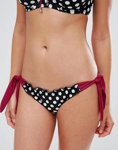 Плавки бикини в горошек с завязками по бокам Pour Moi Starboard - Мульти