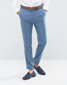 Синие зауженные брюки ASOS - Синий