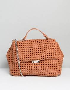 Фактурная сумка с короткой ручкой Silvian Heach - Рыжий