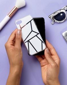 Чехол для iPhone 7 с геометрическим принтом Signature - Белый