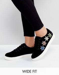 Широкие кроссовки на шнурках ASOS DREAM GIRL - Черный