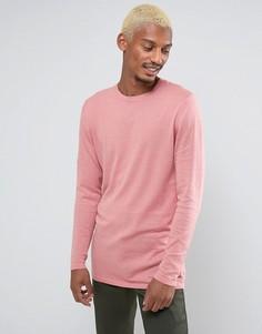 Розовый хлопковый джемпер удлиненного кроя ASOS - Розовый