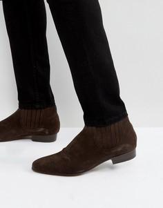 Коричневые замшевые ботинки челси Hudson London Zelus - Коричневый