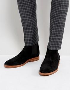 Замшевые черные ботинки челси Hudson London - Черный