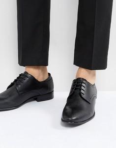 Черные кожаные дерби с тиснением ASOS - Черный