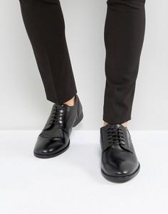 Черные кожаные туфли дерби Base London Ford - Черный