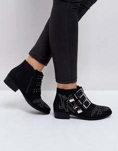 Ковбойские ботинки с пряжками Truffle Collection - Черный