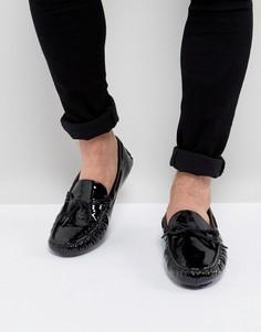 Черные лакированные мокасины ASOS - Черный