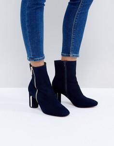 Ботинки на каблуке Faith Betina - Темно-синий
