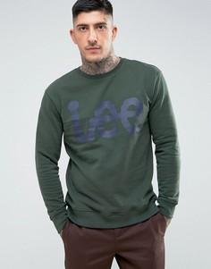 Свитер с логотипом Lee - Зеленый