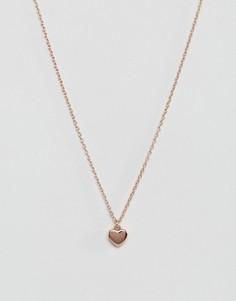 Ожерелье с подвеской-сердечком Ted Baker Hara - Золотой