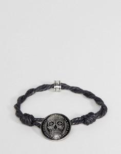 Черный браслет-шнурок Icon Brand - Черный