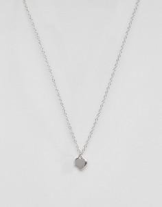 Ожерелье с подвеской-сердечком Ted Baker Hara - Серебряный
