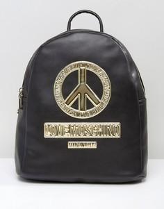Рюкзак с символом мира Love Moschino - Черный