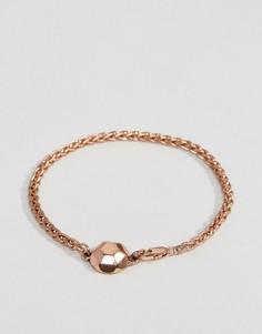 Золотистый браслет-цепочка Icon Brand - Золотой