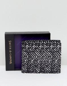 Кожаный бумажник с принтом Smith And Canova - Черный