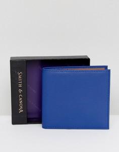 Кожаный бумажник Smith And Canova - Темно-синий