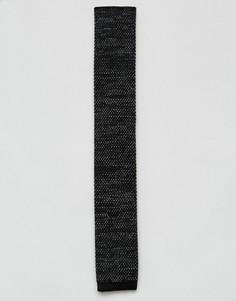 Трикотажный галстук с узором 7X - Черный