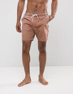 Коричневые шорты для плавания с эффектом кислотной стирки ASOS - Коричневый
