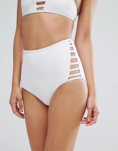 Плавки бикини с завышенной талией New Look - Белый