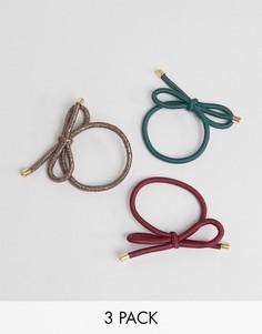 3 резинки для волос в виде галстука-бабочки ASOS - Мульти