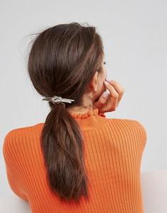 Металлическая заколка для волос с декоративным узлом ASOS - Золотой