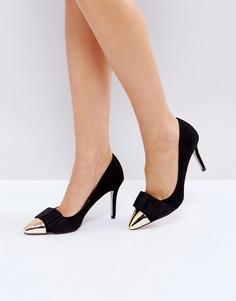 Черные туфли-лодочки с бантиками Miss KG Alyssa - Черный