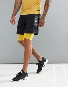 Черные шорты 2 в 1 adidas CD2234 - Черный