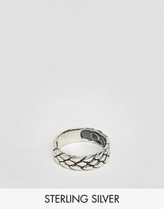 Серебряное кольцо с тиснением ASOS - Серебряный