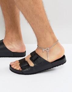 Серебристый браслет-цепочка на ногу Icon Brand - Серебряный
