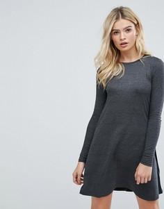 Свободное платье Brave Soul Fresa - Серый
