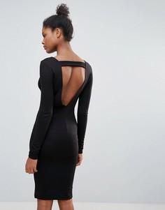 Платье-джемпер с открытой спиной Vila - Черный